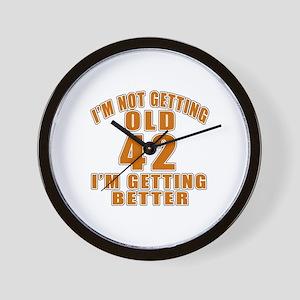 42 I Am Getting Better Wall Clock