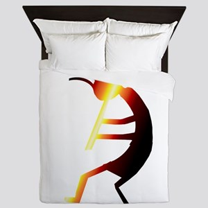 Kokopelli Man Jams Queen Duvet