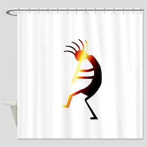 Kokopelli Man Jams Shower Curtain