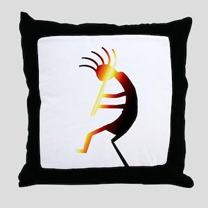 Kokopelli Man Jams Throw Pillow