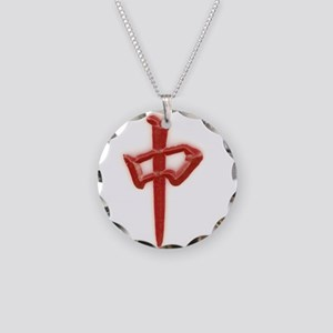 red zhong Necklace Circle Charm