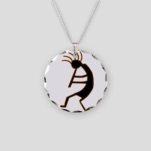 Kokopelli Man Jams Necklace Circle Charm