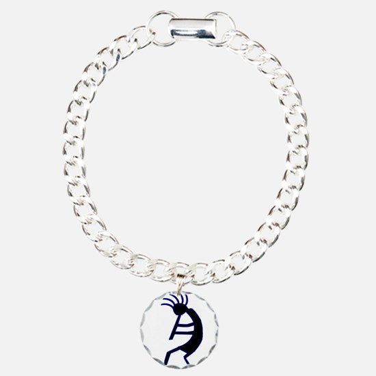 Kokopelli Man Jams Charm Bracelet, One Charm