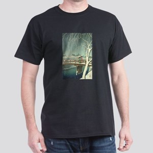 Snow At Edo River Hasui Kawase winter art T-Shirt