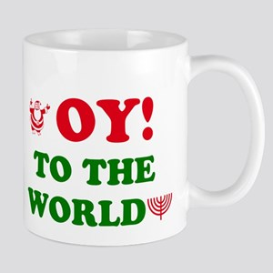 Oy to the World Large Mugs