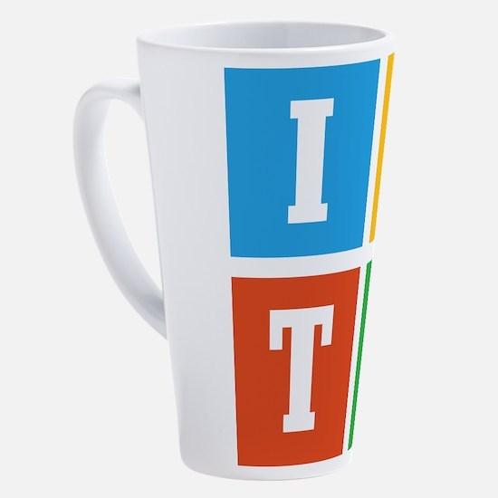 Unique Profile 17 oz Latte Mug