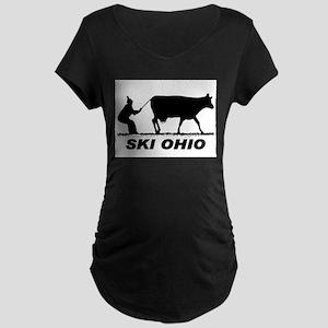 The Ski Ohio Shop Maternity Dark T-Shirt