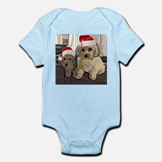 Christmas Cute dogs Copper and Peny Body Suit