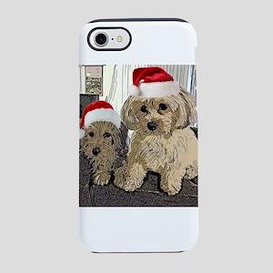Christmas Cute dogs Copper a iPhone 8/7 Tough Case
