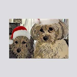 Christmas Cute dogs Copper and Peny Magnets
