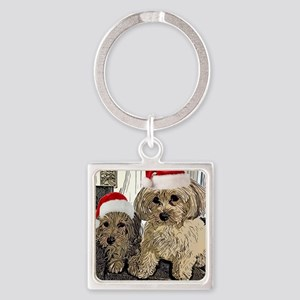 Christmas Cute dogs Copper and Peny Keychains