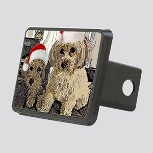 Christmas Cute dogs Copper Rectangular Hitch Cover