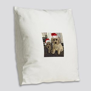 Christmas Cute dogs Copper and Burlap Throw Pillow