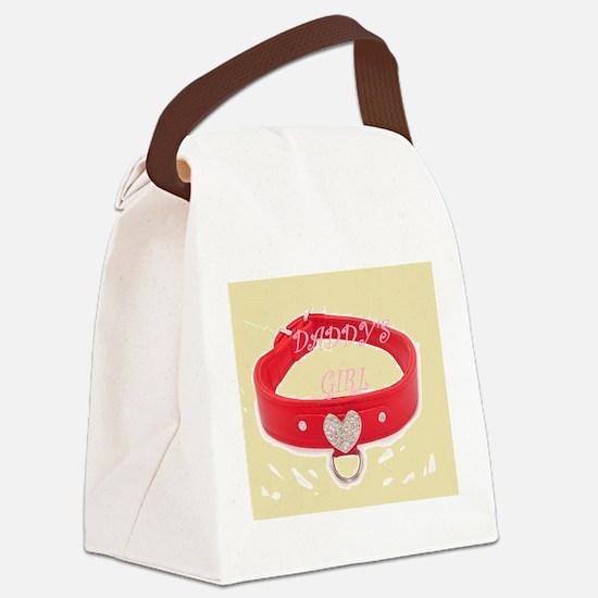 Daddy's Girl (peach) Canvas Lunch Bag