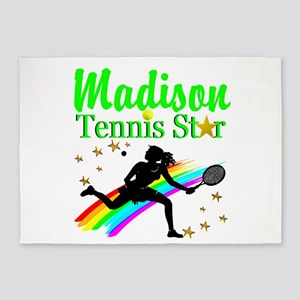 PERSONALIZED TENNIS 5'x7'Area Rug