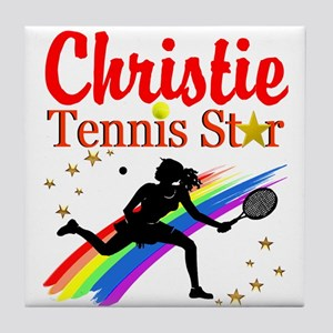 PERSONALIZED TENNIS Tile Coaster