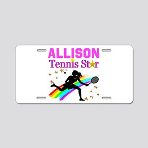 PERSONALIZED TENNIS Aluminum License Plate