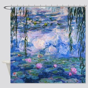 WATER LILIES CLAUDE MONET Shower Curtain