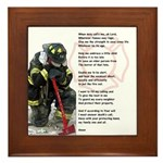 Firemans Prayer Framed Tile