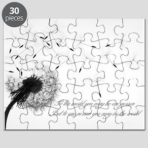 Dandelion Inspiration Small Poster Puzzle