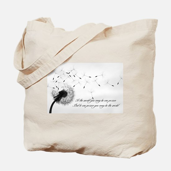 Dandelion Inspiration 2 Tote Bag