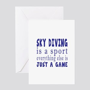 Sky diving is a sport Greeting Card