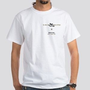 Union Hall White T-Shirt - back:full logo (color)