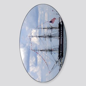 USS Constitution Oval Sticker