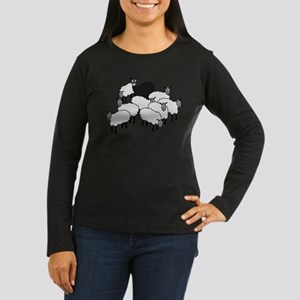 Black Sheep Cartoon Long Sleeve T-Shirt