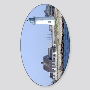 Old Scituate Light Oval Sticker