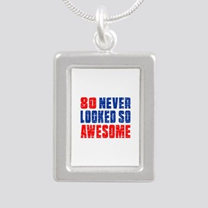 80 Never looked So Much Silver Portrait Necklace