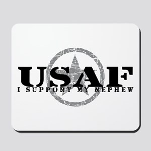 I Support My Nephew - Air Force Mousepad