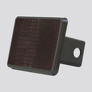 Gator Brown Leather Rectangular Hitch Cover