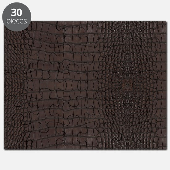 Gator Brown Leather Puzzle