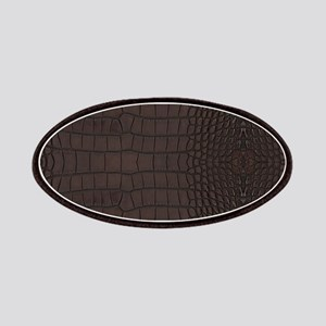 Gator Brown Leather Patch