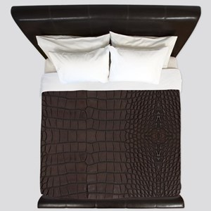 Gator Brown Leather King Duvet