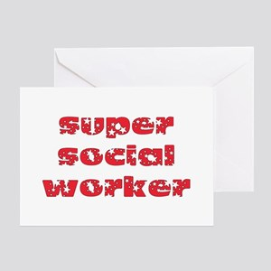 super social worker (Red) Greeting Card