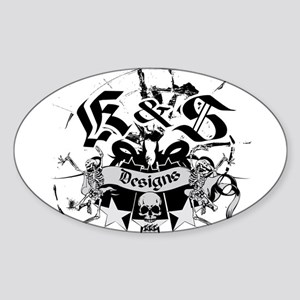K & S Designs Oval Sticker