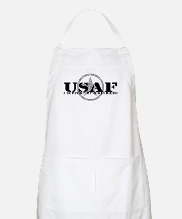 I Support My Girlfriend - Air Force BBQ Apron