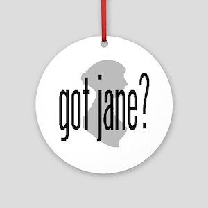 Jane Austen Ornament (Round)