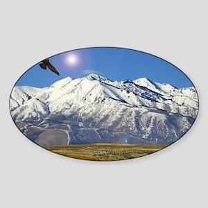 Wellsville mountains Sticker (Oval)