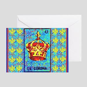 La Corona & Fleur de Lis Greeting Card