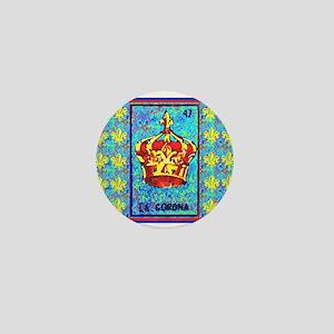 La Corona & Fleur de Lis Mini Button
