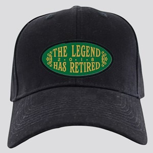 The Legend Has Retired 2018 Black Cap with Patch