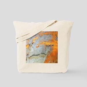 abstract silver grey yellow Tote Bag