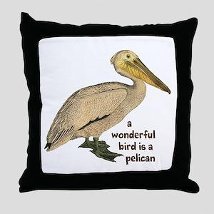Pelican Fun Throw Pillow