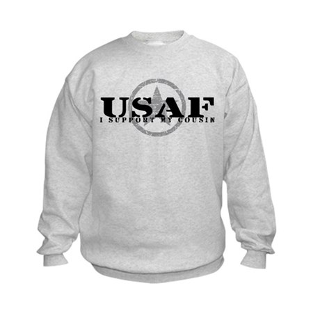 I Support My Cousin - Air Force Kids Sweatshirt