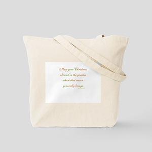 Jane Austen Christmas Tote Bag