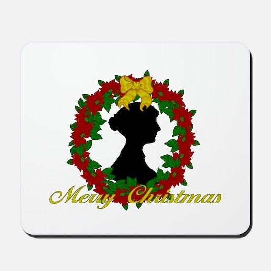 Jane Austen Christmas Mousepad