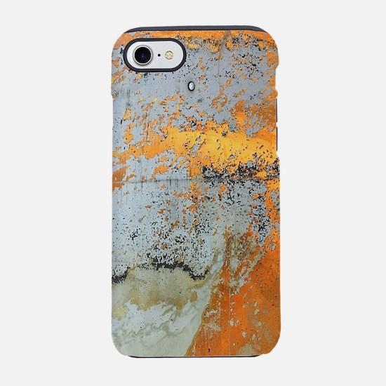 abstract silver grey yellow iPhone 8/7 Tough Case